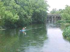Canoeing on the San Marcos River